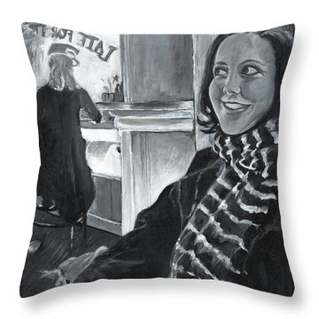 Mona Sandra  Throw Pillow