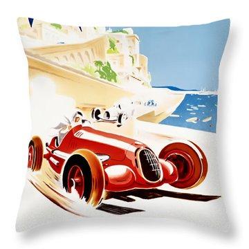 Monaco Grand Prix 1937 Throw Pillow