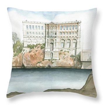 Monaco Oceanographic Museum Throw Pillow