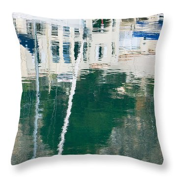 Monaco Reflection Throw Pillow by Keith Armstrong
