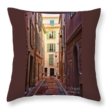 Monaco Street Throw Pillow