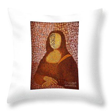 Monalisa Throw Pillow