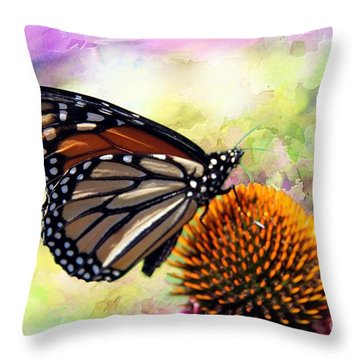 Monarch Abstract  Throw Pillow