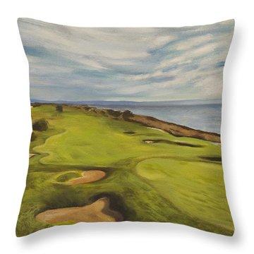 Monarch Bay Golf Course Throw Pillow