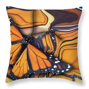 Monarch Flight Throw Pillow