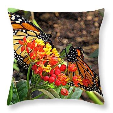 Monarch Handshake Throw Pillow