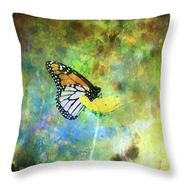 Monarch In Azure And Gold 5647 Idp_2 Throw Pillow