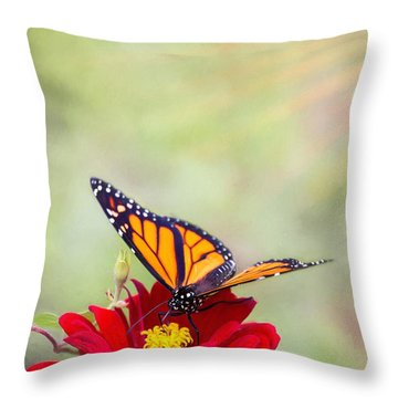 Monarch Magic Throw Pillow