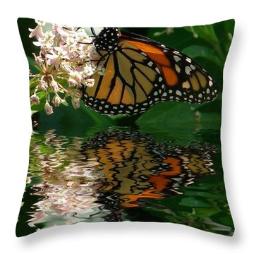 Monarch Reflection Throw Pillow