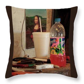 Throw Pillow featuring the photograph Monas Sodas by Joe Jake Pratt