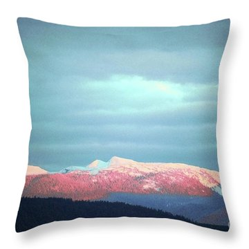 Monashee Sunset Throw Pillow