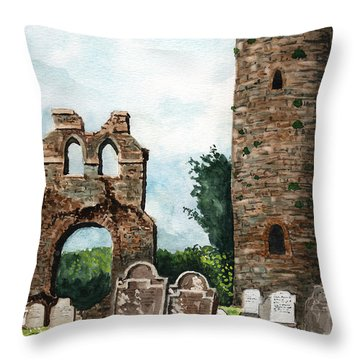 Monasterboice Ruins Ireland Throw Pillow