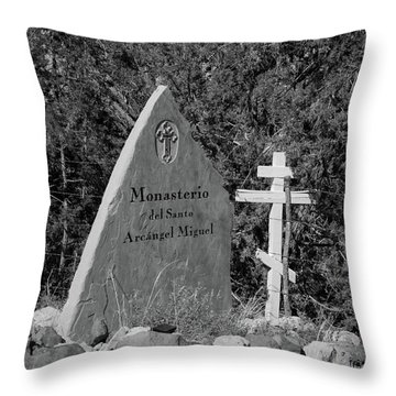 Monasterio Del Santo Arcangel Miguel Throw Pillow