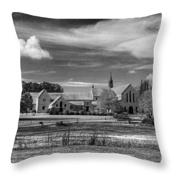 Monasterio Trapense De Azul Throw Pillow by Bernardo Galmarini