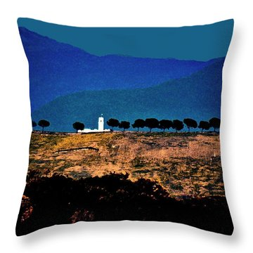 Monastery In Italy Throw Pillow