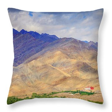Throw Pillow featuring the photograph Monastery In The Mountains by Alexey Stiop