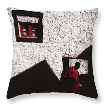 Monastery Throw Pillow by Marji Lang