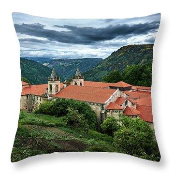Monastery Of Santo Estevo De Ribas Del Sil Throw Pillow