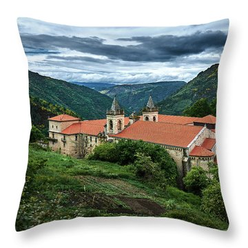 Monastery Of Santo Estevo De Ribas Del Sil Throw Pillow