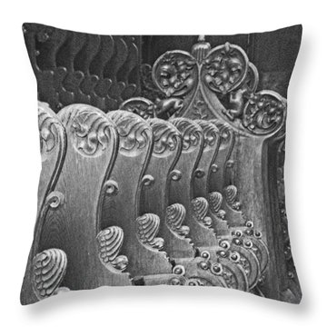 Monastery Pews Throw Pillow