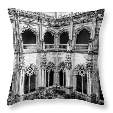 Monastery Toledo Spain Bw Throw Pillow
