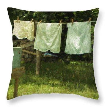 Monday Was Wash Day Throw Pillow