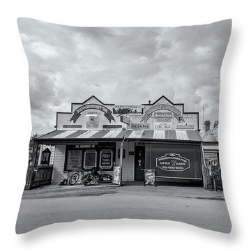 Throw Pillow featuring the photograph Monegeetta General Store by Linda Lees