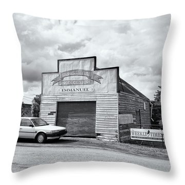 Throw Pillow featuring the photograph Monegeetta Produce Store by Linda Lees