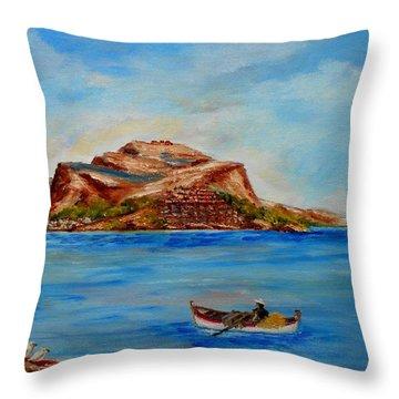Monemvasia Throw Pillow