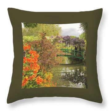 Monet Park Throw Pillow