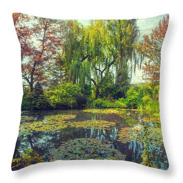 Monet's Afternoon Throw Pillow