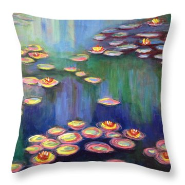 Monet's Lily Pads Throw Pillow