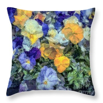 Monet's Pansies Throw Pillow