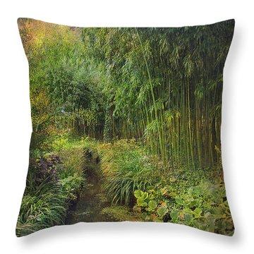 Monets Paradise Throw Pillow