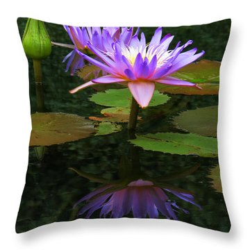 Monet's Waterlilies Throw Pillow