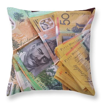Throw Pillow featuring the photograph Money by Debbie Cundy