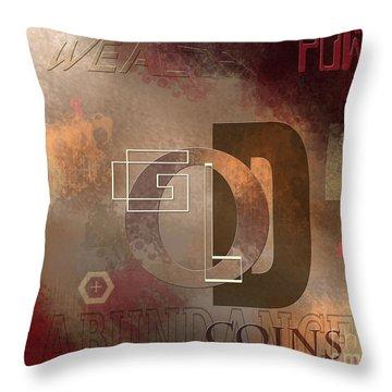 Money Gold Abundance Throw Pillow