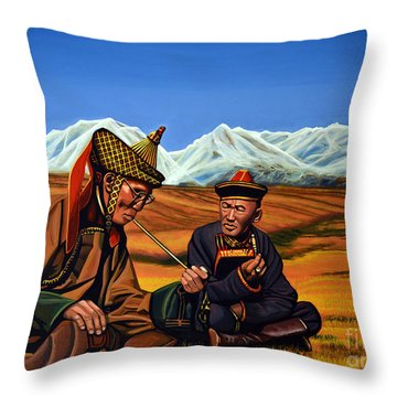 Mongolia Land Of The Eternal Blue Sky Throw Pillow