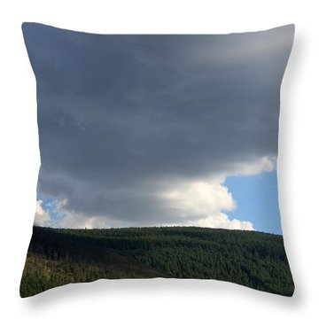 Mongolian Sky Throw Pillow by Diane Height