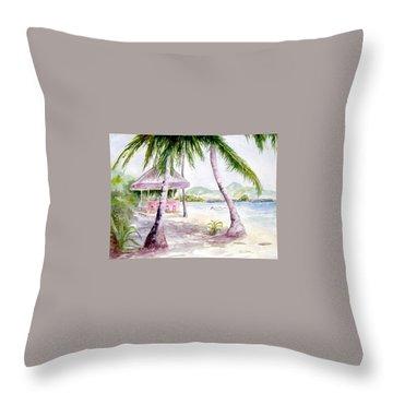 Mongoose Beach Bar Throw Pillow