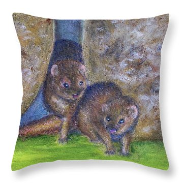 Mongoose #511 Throw Pillow by Donald k Hall