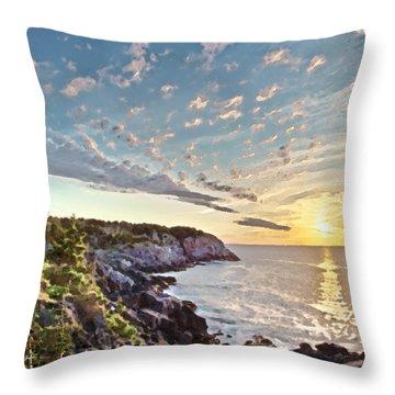 Monhegan East Shore Throw Pillow