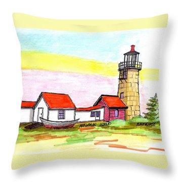 Monhegan Island Light Throw Pillow