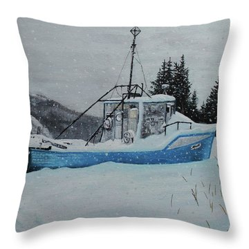 Monica V Throw Pillow