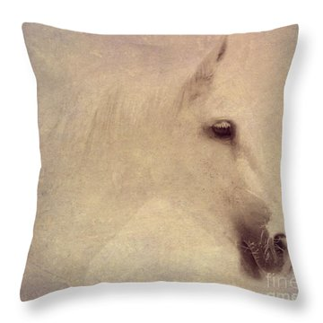 Throw Pillow featuring the digital art Monique In Pastels by Mindy Bench