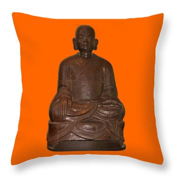 Monk Seated Throw Pillow