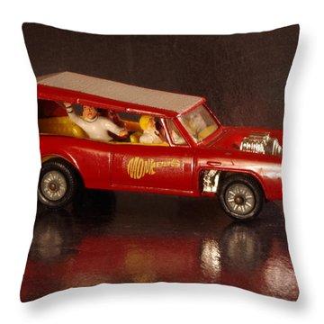 Monkees Mobile Throw Pillow