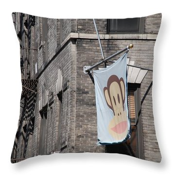 Monkey Flag Throw Pillow by Rob Hans