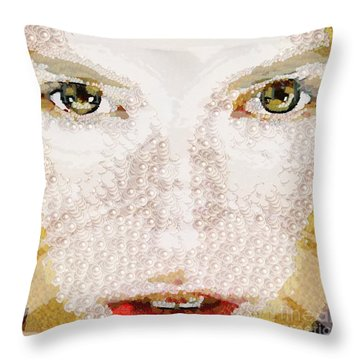 Monkey Glows Throw Pillow