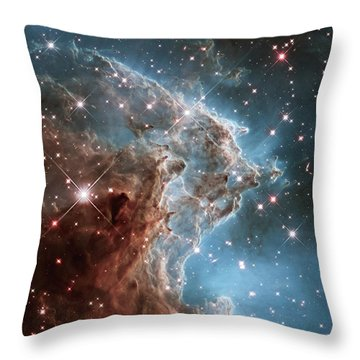 Throw Pillow featuring the photograph Monkey Head Nebula by Marco Oliveira